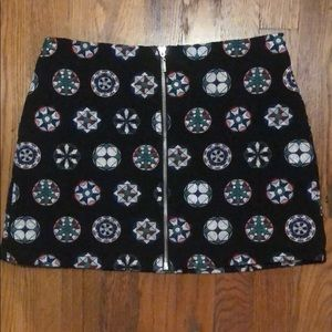 Top Shop Pattern Mini Skirt